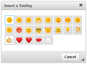 New CKEditor smileys
