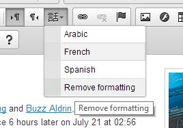 language formatting